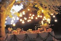 Garden Lights / outdoor lighting - candles, lanterns, string lights, globes, solar lights, etc