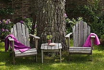 Garden Furniture, Porches, Patios / Outdoor tables, chairs, benches, outdoor dining and tablescapes; pretty porches and patios