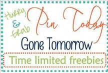Pin today Gone Tomorrow / Educational/Homeschooling freebies that have a *limited* free time.  Key words: limited time, homeschooling, educational, family, children, home. Pin it today, but it may not be free tomorrow. Grab today while it's free.   #pintodaygonetomorrow
