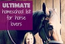 Just Horse 'n Around / Horse Lovers. Free resources to make a unit study on horses or just for the love of riding. Free printables and horse lapbooks.  #horse #homeschoolscience