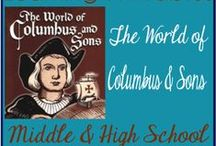 World of Columbus & Sons / Christopher Columbus Life and Study. History unit study for homeschool kids. #christophercolumbus #handsonhistory