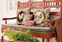 Porch Ideas / front porch, back porch, painted signs, pergola, arbors, and DIY