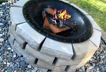 Back Yard Ideas / Back yard ideas and projects, fire pits, ovens, games,