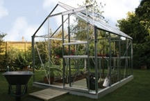 Vitavia range of greenhouses / We love hobby greenhouses at Vitavia.  Aluminium, green or black, single or double doors, straight or curvy, we make them all in many different sizes!