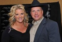 Garth Brooks~Trisha Yearwood / On of the biggest and best entertainers.  He donates all his money to Charity.