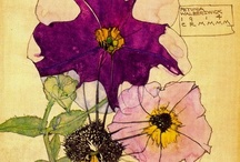 """Charles Rennie Mackintosh & Margaret Macdonald Mackintosh / I love the botanical drawings that the Mackintosh couple made. Although most pins here state that they are his alone, most of them are in fact signed """"CRM / MMM"""", i.e. Charles Rennie Mackintosh and Margaret Macdonald Mackintosh. The drawings are i.m.h.o. absolutely fantastic in the detailing and the colouring."""