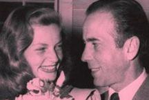Bogey (1899-1957) and Bacall (1924-2014) / A great love of all Hollywood history.   Today, August 12,2014 she passed away and joined Humphrey Bogart.  They are together again.  They had a great love for each other.  You can see the love in her eyes when she looks at him.  A great love and respect.  / by Pat Marvin