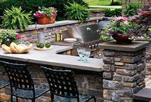 Outdoor kitchen ideas / by Jane Meadows