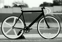 Bicycles / A bicycle, often called a bike or cycle, is a human-powered, pedal-driven, single- track vehicle, having two wheels attached to a frame, one behind the other.