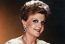 "Angela Lansbury / What a fantastic actress she is.  I loved her in ""Murder, She Wrote"". / by Pat Marvin"