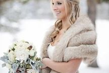 Winter Weddings / All the inspiration you need to plan your gorgeous winter wedding! This board includes beautiful dress, shawl, makeup, decoration, coat, hairstyles, coverup and bouquet ideas.