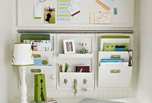 Get organized! / Ways to organize, de- clutter, and find places for things. / by Nicole Puckett