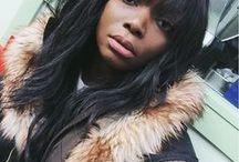 {hair: bangs & balayage} / hair inspiration: fringe, bangs, balayage and ombre for dark hair.
