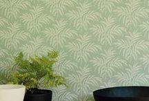 NEW Imperial Gardens Wallpaper / A new collection of wallpapers influenced by classic Japanese patterns and motifs.