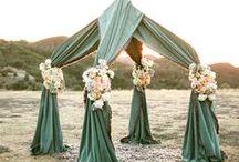 wedding ceremony spaces / #wedding #ceremony #ideas #ceremonyinspiration / by Stefanie Miles