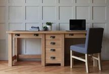 Indigo Works / Create an inspired workspace with solid wood home office furniture from Indigo; a definitive collection of home office furniture which includes handcrafted wooden desks, bookcases and filing cabinets. Team with Leather Accessories for the distinctive Indigo aesthetic.