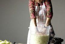 Fermentations / Recipes for Kraut to Kombucha to Pickles to Homemade Vinegar.