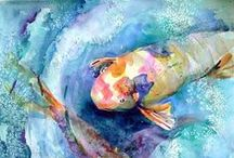 Watercolor love / Beautiful watercolor inspiration!