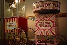 Popcorn and Candyfloss / Sweet, colorful, fluffy and... yummy!!!Contact: +44 (0)208 829 1140 | info@contrabandevents.com | www.contrabandevents.com
