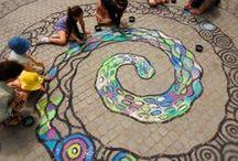 U.C. Pavement Art & Art Workshops / Stunning pavement art and art workshops. Contact: +44 (0)208 829 1140 | info@contrabandevents.com | www.contrabandevents.com