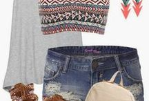 Spring/Summer Fashionista / Spring and Summer outfit ideas and trendy styles.