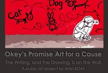Okey's Promise: Celebrating the Human - Animal Bond / Public art project - Art for a cause. Art created to raise awareness to the links between animal abuse, domestic violence and child abuse.