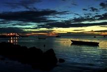 SUNSET IN KAIMANA PAPUA INDONESIA
