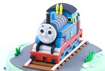 Train Cakes and Birthday Parties / Are you throwing a train birthday party for your favorite engineer? Take a look through this collection of my favorite train cakes, Thomas cakes, and train birthday party activities and ideas! And then visit us at http://play-trains.com/ for a host of ideas for train fun.
