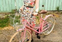 bicycle love / cruiser bicycles . baskets . flowers . dresses .
