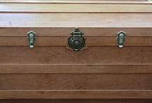 Keepsake Chest & Shadow Boxes / Do you have a special occasion you want to remember, such as a wedding, retirement, or birth of a child? This keepsake chest is made of cherry for all your big and little mementos. Shadow boxes can be included or made separately.