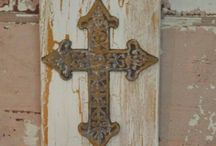 Crosses & Bible Verse Canvas' / by Kim Perdue