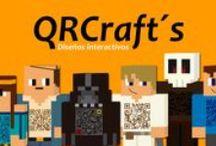 QRCrafts / Diseños interactivos que gracias a los códigos QR pueden dinamizar y dar un poco de color a la vida.