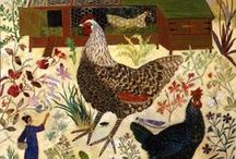 Hen & Garden Illustrated / Hens. And gardens. / by Roberta