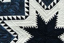 Quilted Beauty / My favorite patterns are feathered star, bears paw, log cabin, storm at sea and snail's trail. Am constantly amazed at the beauty that can be created with fabric choices.