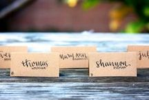 Seating Chart & Name Card Ideas