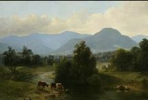 Hudson River School / In the mid-1800s, a group of painters based in New York turned their focus to the theme of the natural landscape to demonstrate the beauty of the wilderness. Their work enjoyed a popular national success that no other group of artists has achieved since. The New-York Historical Society's collection features works by all the greatest artists of the group, including Thomas Cole, Asher Durand, Albert Bierstadt, and Frederic Church.