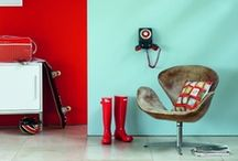 Turquoise & Red Rooms