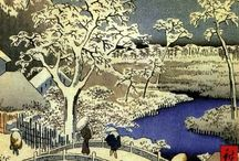 Hiroshige, Hokusai, Kasamatsu... / by Gail Silveira