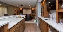 Basements by Red House Remodeling / A well-finished basement can go a long way toward making your home functional for your family. Family rooms, guest rooms, bathrooms, bars, storage and more are all at home in the basement.