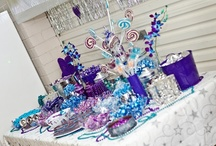 Celebrations - Engagement / Teal Blue, Silver and Purple Colour themed engagement party