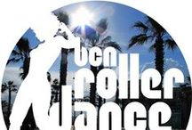 BCN Roller Dance Logo / Our logo with different background images from Barcelona / Nuestro logo con fondos diferentes de Barcelona