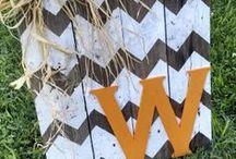 vinyl lettering and wooden signs / by Jamie Sanders