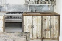 Kitchen with wood / by Creme Anglaise