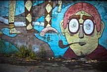 Street art di Roma / #streetart #roma #streetartroma #blu #jbrock #alicepasquini #stencil #stickers #murales #graffiti