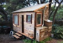 Teenie, Tiny Houses & Apts / Simply put it is a social movement where people are downsizing the space that they live in. The typical American home is around 2600 square feet, while the typical small or tiny house is around 100-400 square feet. Tiny Houses/Apts come in all shapes, sizes and forms but they focus on smaller spaces and simplified living. / by Kim Hernandez