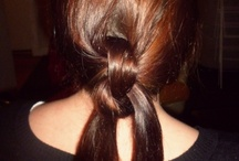 Homemade Hairstyles / Practicing a variety of hair tricks.