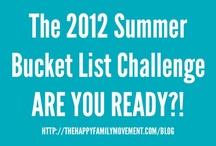 2012 Summer Bucket List Challenge