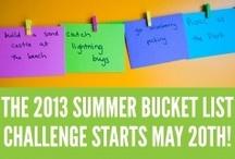 2013 Summer Bucket List Challenge