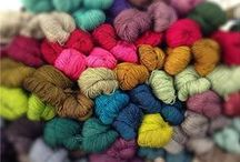 Yarn of all Flavors / A continuous often plied strand composed of either natural or man-made fibers or filaments and used in weaving and knitting to form cloth / by Kim Hernandez