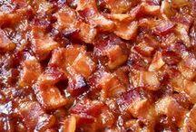 Bacon Bacon Bacon Bacon / Bacon is a cured meat prepared from a pig. / by Kim Hernandez